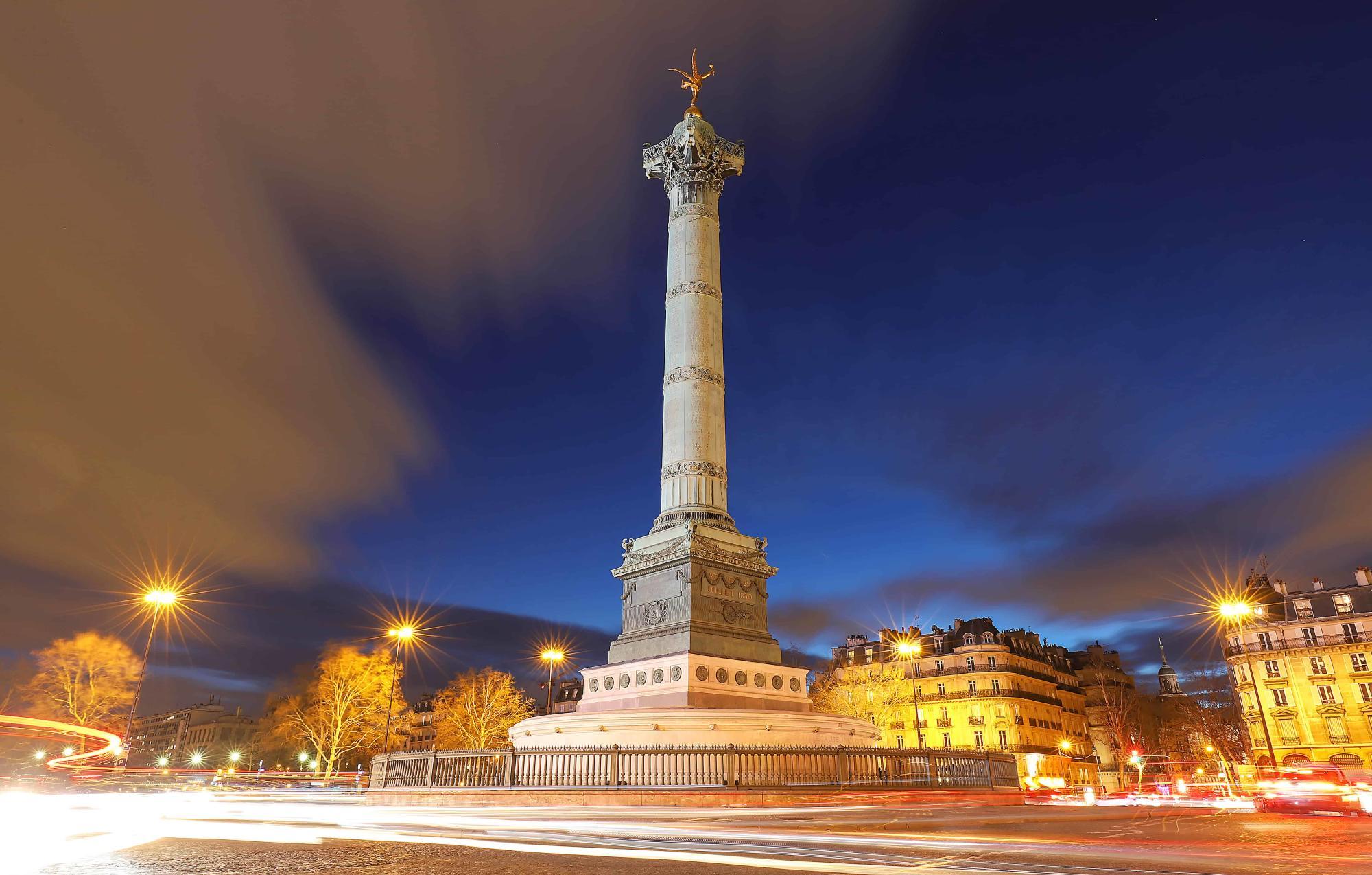 Place de la Bastille - 9 hotel Bastille-Lyon Paris 12