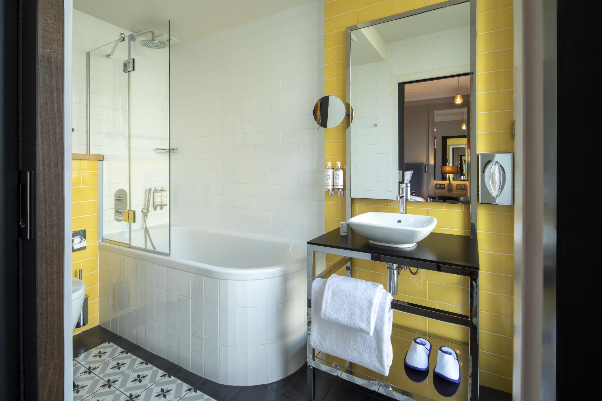 Hôtel Les Matins de Paris Chambre Exécutive Balcon Salle de bain