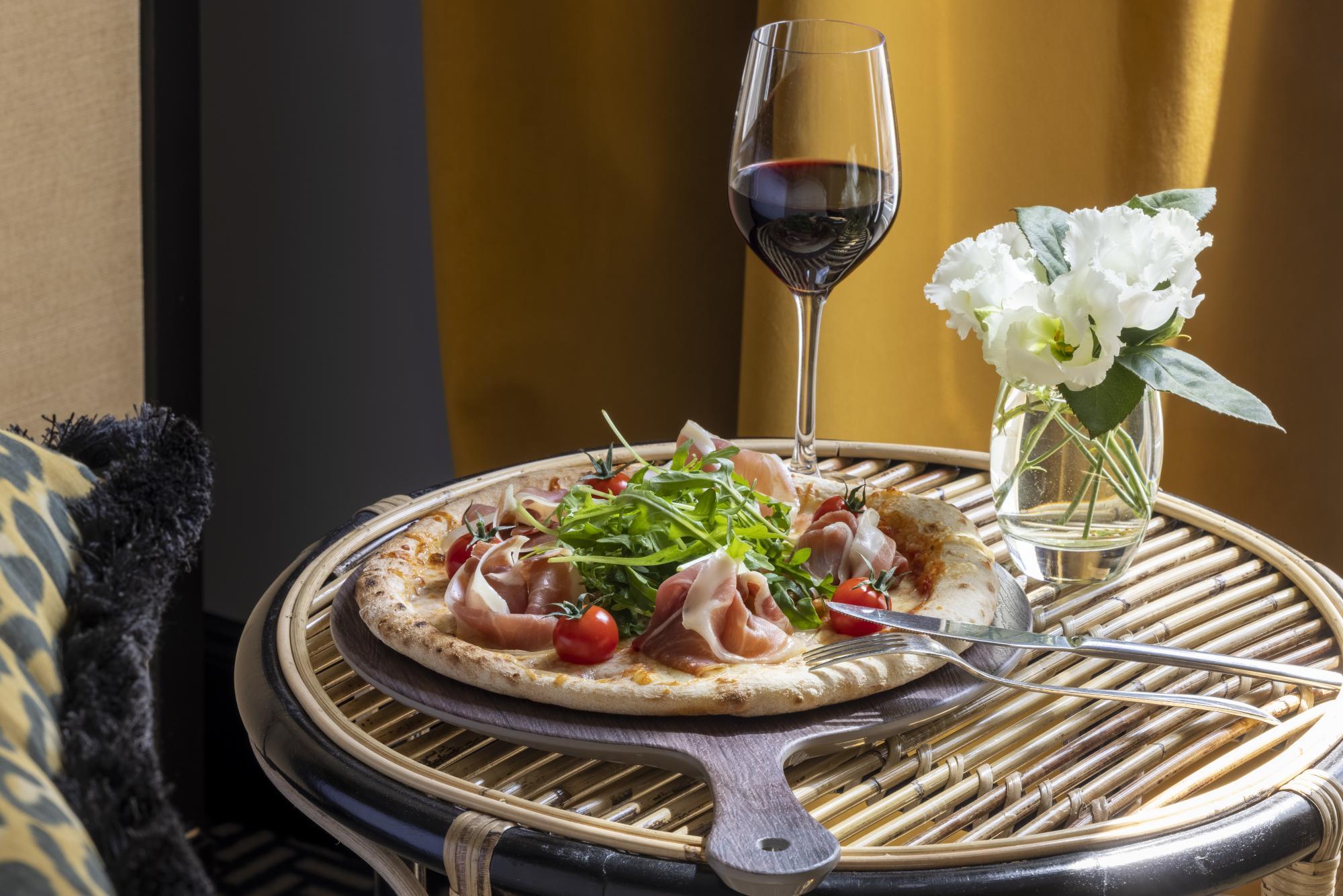 Grand Hotel Chicago Room Service Pizza