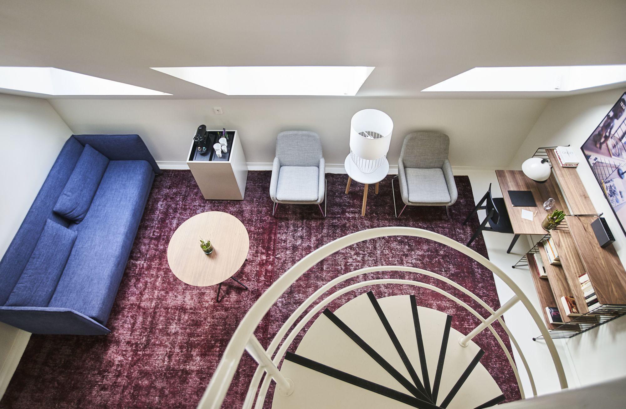 Duplex room design 9 Hotel Sablon Brussels